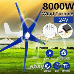 9000w Max Power 5 Lames Générateur De Turbine À Vent Avec Contrôleur De Charge DC 12/24v