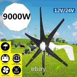 9000w Turbine Éolienne 6 Lame Horizontal Wind Generator Maison Éolienne 24v / 48v