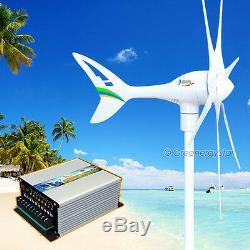 Apollo 550 W 12 V Ac Aimant Wind Turbine Générateur 6 Lame + Contrôleur Hybride