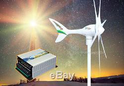 Apollo 550 Watt W 12 V Ac (6 Pales) Turbine Éolienne Générateur + Contrôleur Hybride