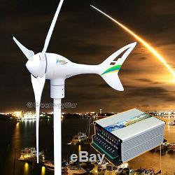 Apollo Max 550 W 12v Ac Aimant Éolienne Générateur 3 Blarge + Contrôleur Hybride