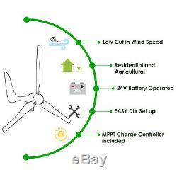 Automaxx Éolienne 1500w 24v 60a Wind Turbine Kit Générateur