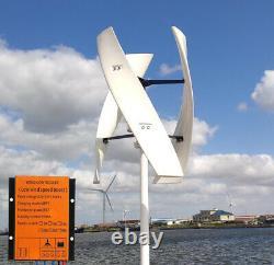 Axis Vertical Helix Maglev Kits Générateur De Turbine À Vent 600w 48v Contrôleur Mppt