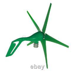 Contrôleur De Charge De Puissance De 1800w 12v / 24v 5 Pales Wind Turbine Generator Kit