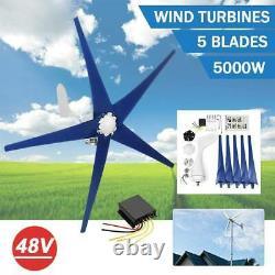 DC 48v 5 Lames 5000w Générateur D'éoliennes Réglé Avec Contrôleur De Charge De Puissance Us