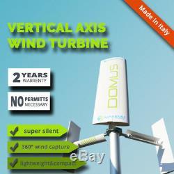 Domus Énergie Domestique Vertical Toit Jardin Maison De Générateur De Turbine Éolienne Axe Vaw
