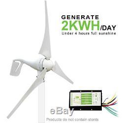 Eco 900w Kit Hybride 400w Wind Turbine Générateur Et 5 Pièces 100w Panneau Solaire
