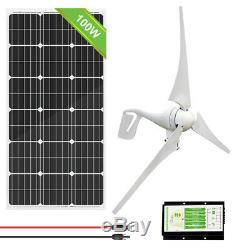 Eco Hybride Kit100w 200w 500w 1000w Panneau Solaire + 400w Wind Turbine Générateur