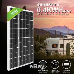 Eco-digne 600w Kit Hybrid 400w Wind Turbine Générateur Et 2 Pièces 100w Panneau Solaire