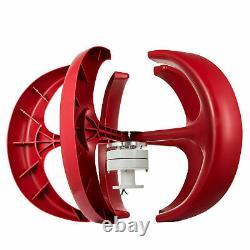 Éolienne 400w 12v Générateur D'éoliennes Lanterne Rouge Verticale Aveccontroller