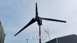 Eolienne 48v 1000 Watts, Turbine Éolienne, Ajustement Facile, Le Vent Solaire