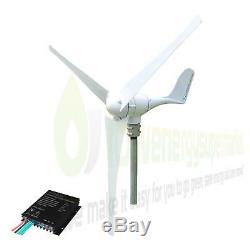 Éolienne 500w 24v Générateur Power Kit Avec Contrôleur De Charge Hors Réseau Ukstock