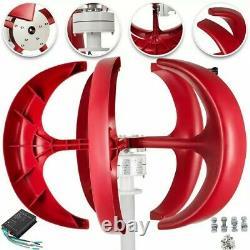 Éolienne 6000w 12v/24v Générateur D'éoliennes Red Lantern Vertical Wind
