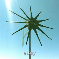 Eolienne Eolienne 1200 Watt 11 Lame Green Low Vent 24 Volt Ac / 3 Ph