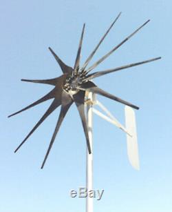 Éolienne Générateur 1275 Watt 11 Lame Basse Wind 12 Volt DC Chargeur De Batterie