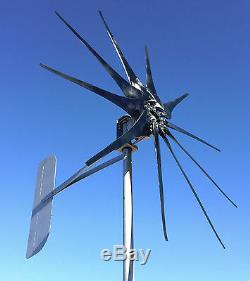 Eolienne Generator 1200 Watts / 10 Lame High Amp Cutter © 12 Volt DC 2 Fils