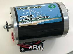 Freeenergy 1200w 12v / 24v / 48v DC Aimant Permanent Moteur Générateur Éolienne