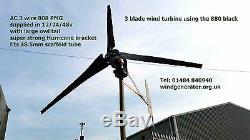Frelon Super Green 12v À 60v 600 Watt 3 Pales De Droits D'lourde De Turbine De L'éolienne