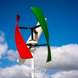 Générateur D'énergie Éolienne Turbine Verticale 400w 12v / 24v 3 Blade Avec Le Contrôleur Meilleur