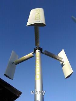 Générateur D'éolienne À Axe Vertical Domus 500 House Garden Boat Roof 500w Vawt