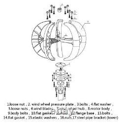 Générateur D'éolienne De Lanterne De 2500w Avec Le Bateau À Grande Puissance De Contrôleur/marine