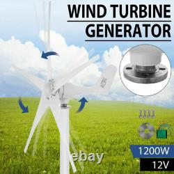 Générateur D'éoliennes 1200w DC 12v Charger Controller Home Power 5 Lames Us