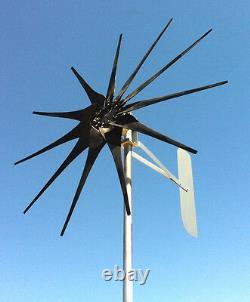 Générateur D'éoliennes 1250 Watt / 11 Pales Vent Bas 12 Volt Ac 3-w / 3 Phase