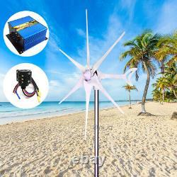 Générateur D'éoliennes 3500w-5500w 12-24v 6blades + Chargeur + Anneau De Glissement