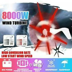 Générateur D'éoliennes 8000w 12v 6 Pale Wind Turbine Horizontal Home Power