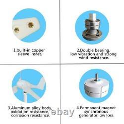 Générateur D'éoliennes De 9000w 12 24 48v 5 Lames Adaptées À La Maison Ou Au Camping N