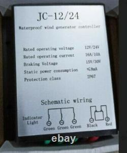 Générateur D'éoliennes Max Power De 8000w 5 Pales Avec Contrôleur De Charge 12v 400w