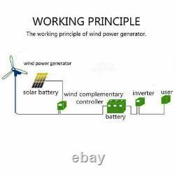 Générateur De Turbine Éolienne De 3000w 12v 24v 48v 5 Lames Windmill Charger Controller Au