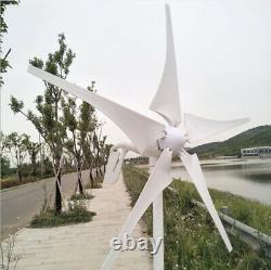 Générateur De Turbine Éolienne De 5000w 5 Lames Avec Régulateur De Charge Windmill Power DC 12v
