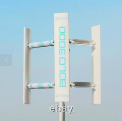 Générateur De Turbine Éolienne Eolo 3000w Axe Vertical Maison Toit De Jardin 3kw
