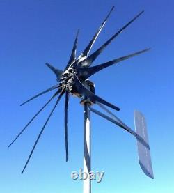 Générateur De Turbine Pma 950 Watts 10 Palest Low Wind 48 Volt DC 2 Fils Noncog Pma Turbine