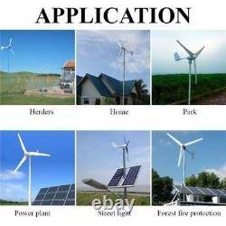 Générateur Horizontal D'éoliennes De 9000w Énergie De Moulin À Vent 6 Lames En Fibre De Nylon 48