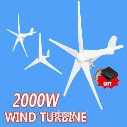 Générateur Hybride D'éoliennes 2000w 3/5 Pales DC 12/24v Contrôleur De Charge De Kit