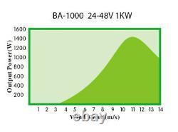 Hurricane Big Ass Wind Turbine Generator Kit 1.5 Kw 1500 Watts 48v Sortie Réelle