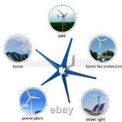 Kit Générateur De Turbine Éolienne 24v 9000w 5 Lames Avec Contrôleur De Charge USA