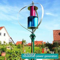 Kits Générateurs De Turbine À Vent Vertical Tumo-int 400w Avec Contrôleur De Charge(12/24v)