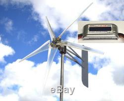 Kt Fantôme 74 Alumt 5 Blade Wind Turbine 48 Vac 3-phase 6,3 Kw Free Wattmètre