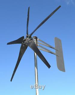 Kt5 Éolienne 5 Lame Low Vent 1000w 48 Volts DC 2 3.75kw De Fil