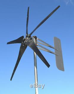 Kt5 Éolienne 5 Lame Vent Faible 1000w 24 Volts Ac 3 3.75kw De Fil