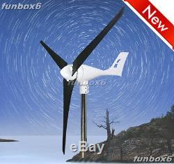 Max850withrated 600w 12v Éolienne Générateur Moulin À Vent + Wp Controller + Lames Prfc