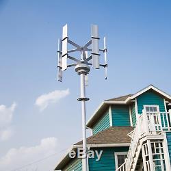 Meilleur Mini Vertical Éolienne Générateur 10w 12v 5 Lames En Aluminium Pour La Maison