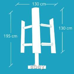 Micro Vertical Axe Turbine Eolo 3000w Domestique Vawt Home Toit De Jardin 3kw