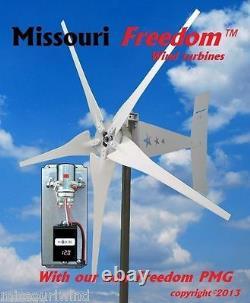 Missouri Freedom 12 Volt 1600 Watt 5 Blade Turbine & Charge Kit Vent Contrôleur