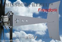 Missouri Freedom 48 Volt 1600 Watts Max 9 Lame Éolienne Générateur