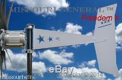 Missouri Général Freedom II 12 Volt 2000 Watt Max 9 Lame Wind Turbine Generator