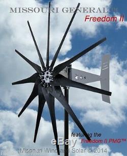 Missouri Général Freedom II 24 Volt 2000 Watt 11 Lame Éolienne Générateur